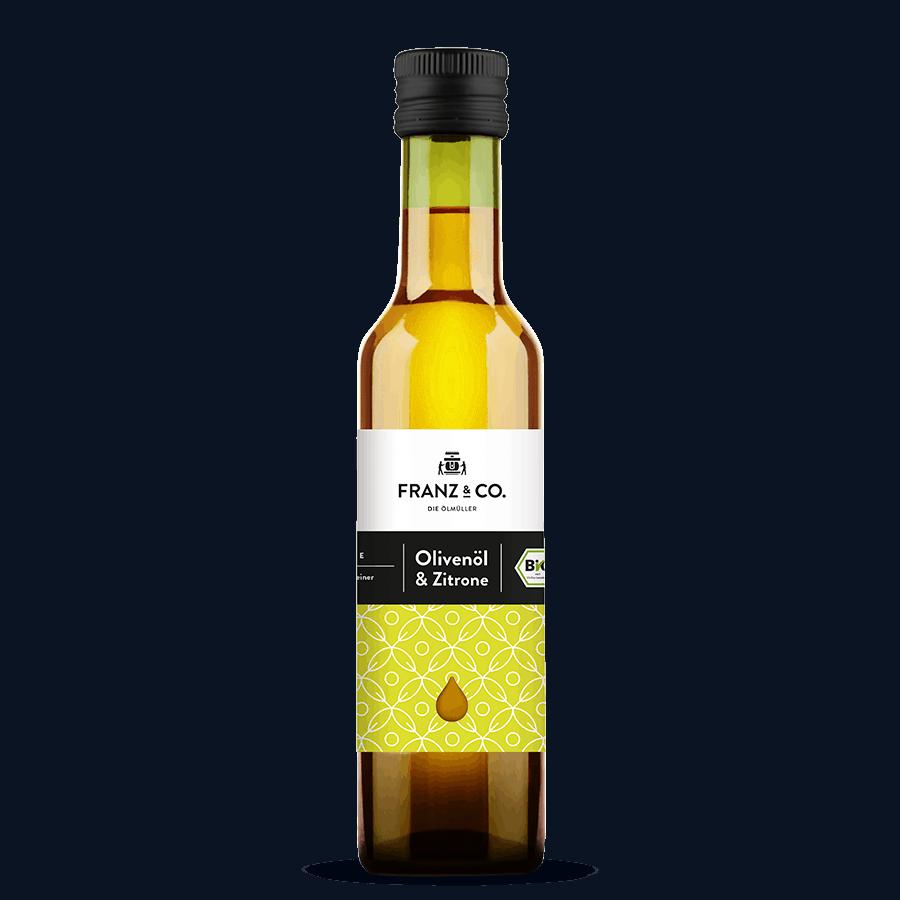 250 ml Flasche Bio-Olivenöl & Zitrone von FRANZ & CO.