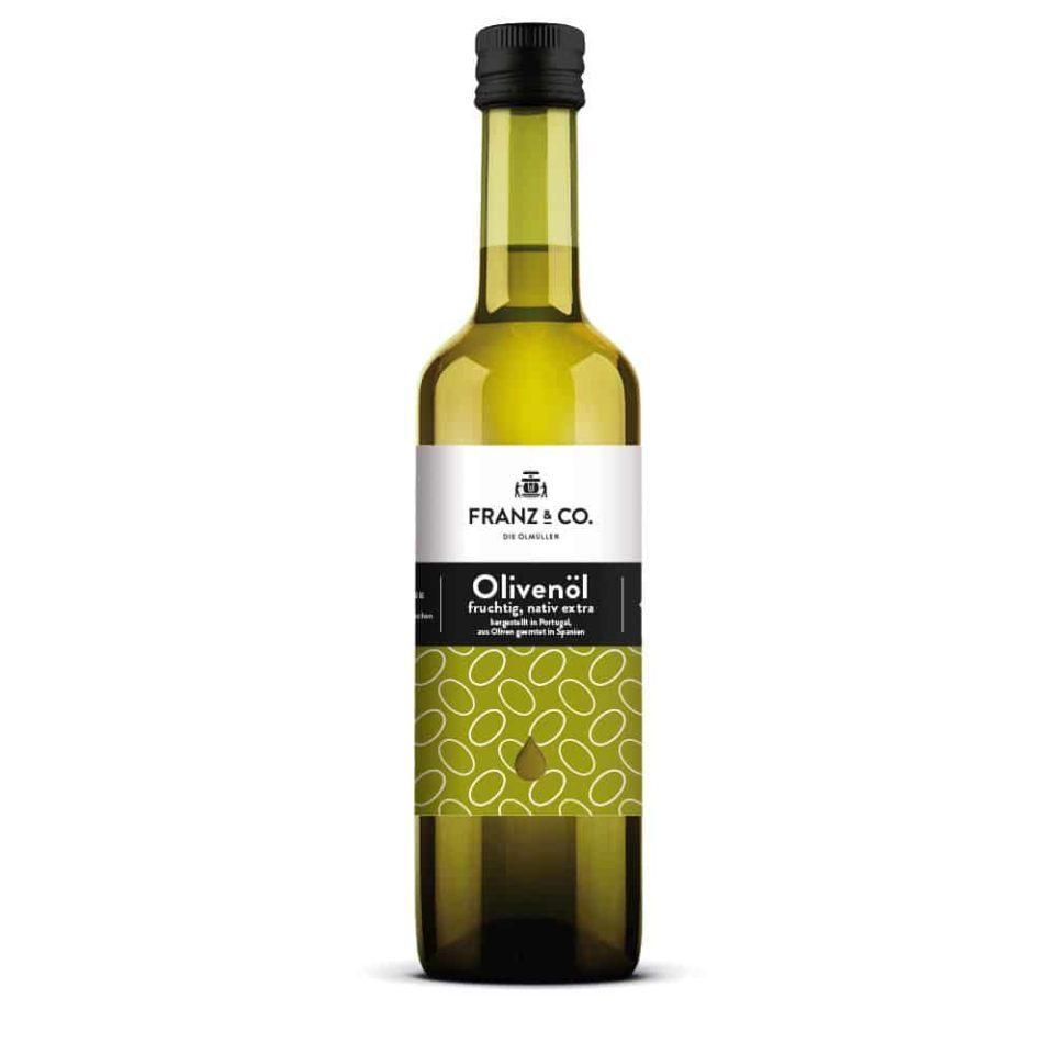 Produktabbildung FRANZ & CO. Olivenöl fruchtig, nativ extra, 500 ml