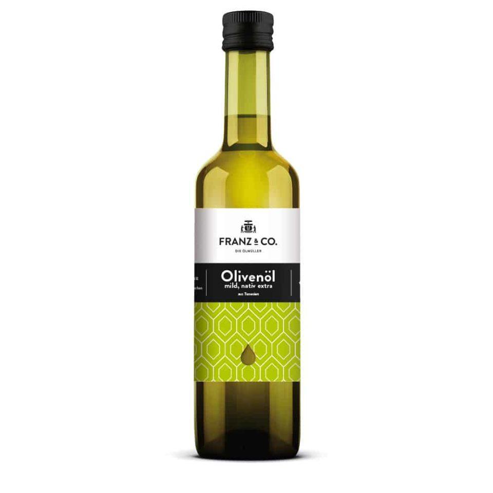 roduktabbildung FRANZ & CO. Olivenöl mild, nativ extra, 500 ml