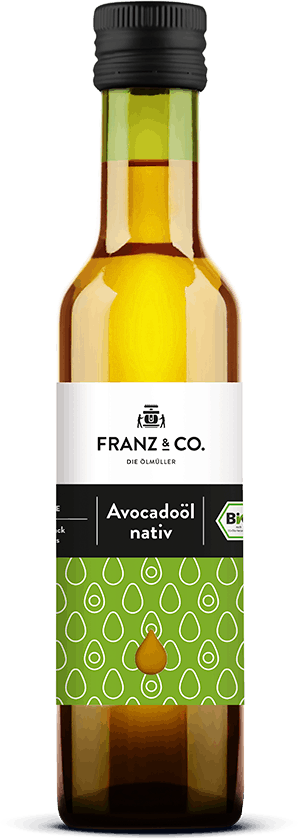 250 ml Flasche natives Bio-Avocadoöl von FRANZ & CO.