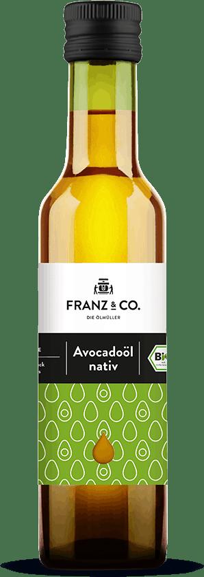 250 ml Flasche natives Bio-Avocadoöl von FRANZ & CO.