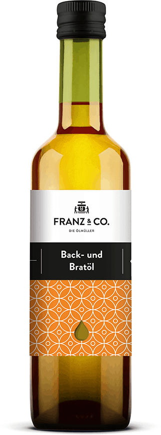 500 ml Flasche Bio-Back- und Bratöl von FRANZ & CO.