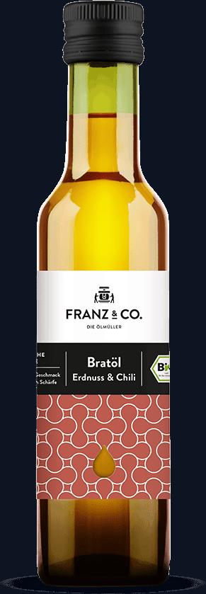 250 ml Flasche Bio-Bratöl Erdnuss & Chili von FRANZ & CO.