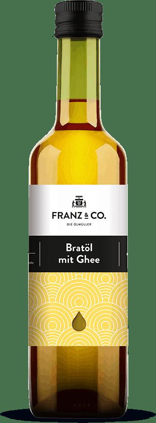 500 ml Flasche Bio-Bratöl mit Ghee von FRANZ & CO.