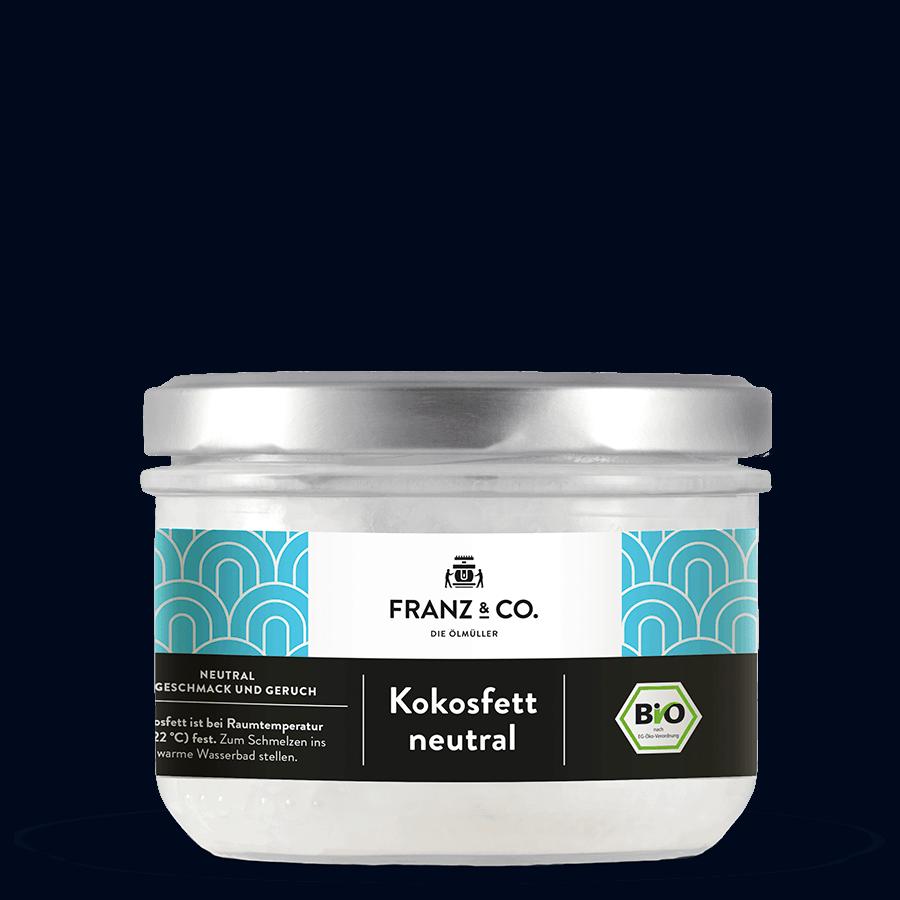 250 ml Glas Bio-Kokosfett neutral von FRANZ & CO.