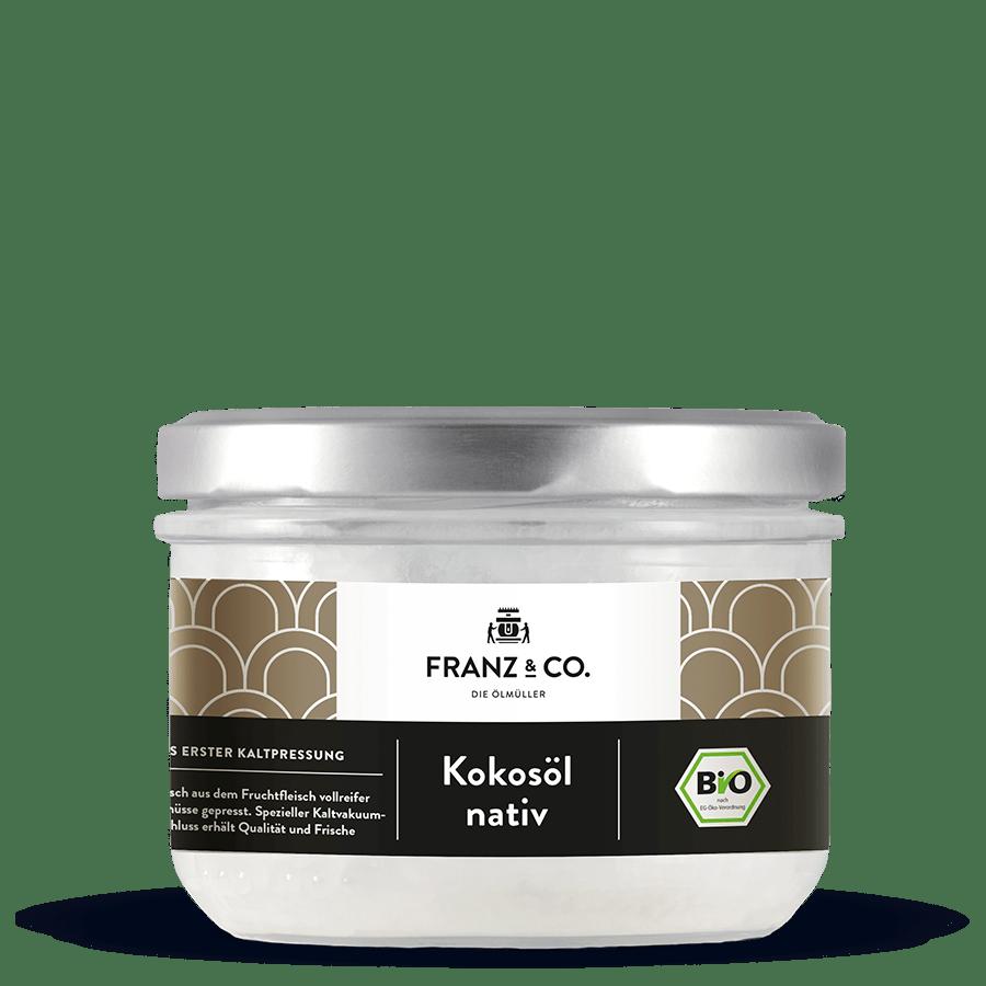 250 ml Glas Bio-Kokosöl nativ von FRANZ & CO.