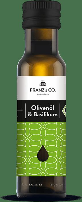 100 ml Flasche Bio-Olivenöl & Basilikum von FRANZ & CO.