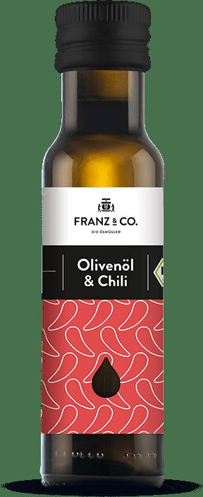 100 ml Flasche Bio-Olivenöl & Chili von FRANZ & CO.