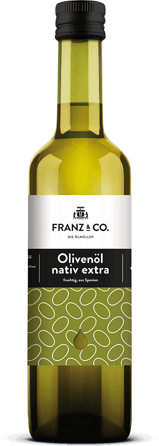 500 ml Flasche Bio-Olivenöl fruchtig nativ extra von FRANZ & CO.