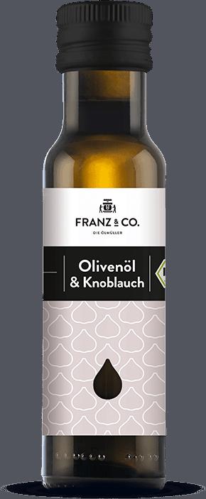 100 ml Flasche Bio-Olivenöl & Knoblauch von FRANZ & CO.