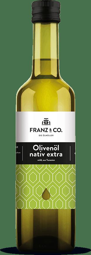 500 ml Flasche Bio-Olivenöl mild nativ extra von FRANZ & CO.