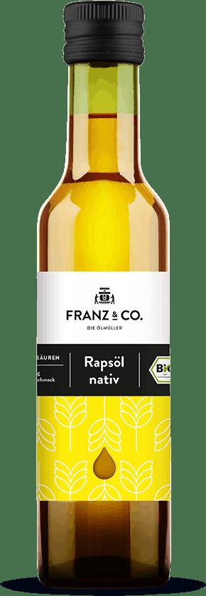250 ml Flasche natives Bio-Rapsöl von FRANZ & CO.
