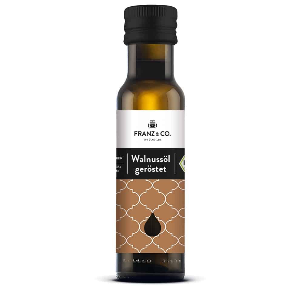 100 ml Flasche geröstetes Bio-Walnussöl von FRANZ & CO.