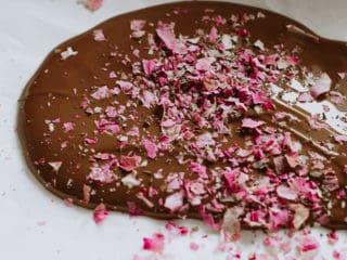Valentinstagsschoki mit Basilikum