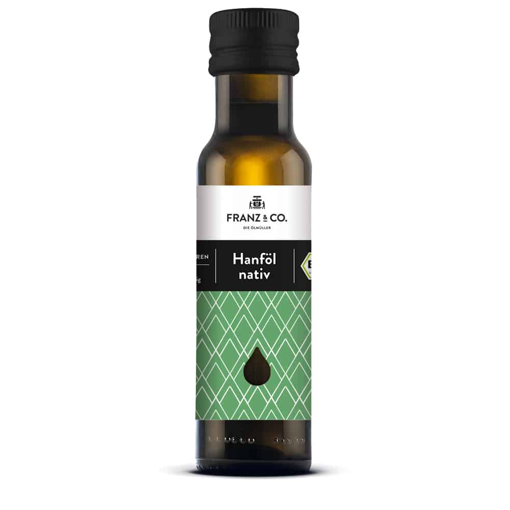 100 ml Flasche natives Bio-Hanföl von FRANZ & CO.