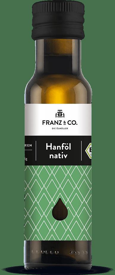 100 ml Flasche natives Bio-Hanföl von FRANZ & CO.