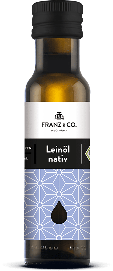 100 ml Flasche natives Bio-Leinöl von FRANZ & CO.